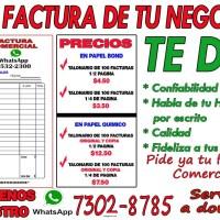 FACTURAS COMERCIALES PERSONALIZADAS PUEDES PEDIR TUS TALONARIOS