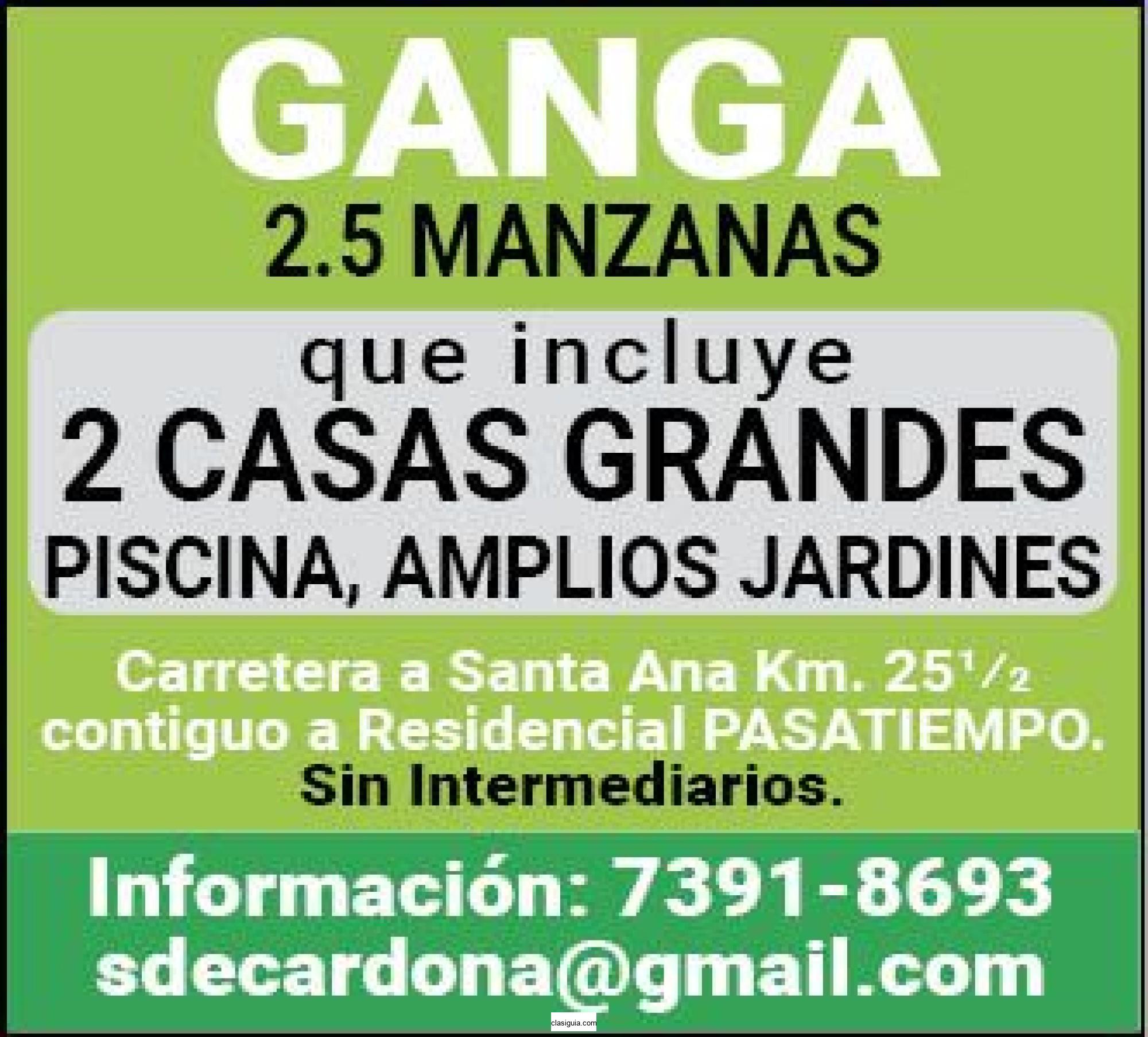 GANGA 2.5 MANZANAS