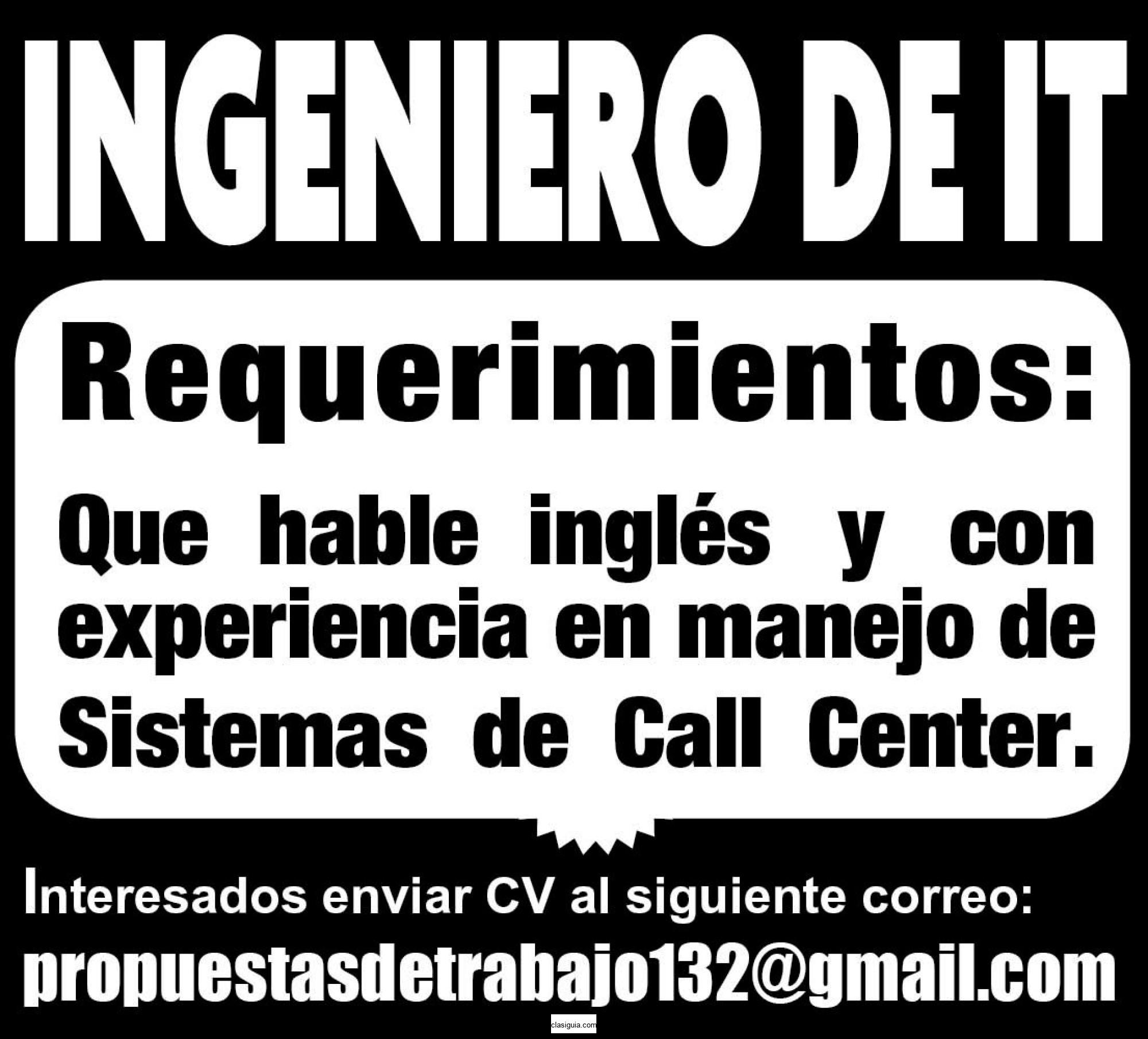 INGENIERO DE IT