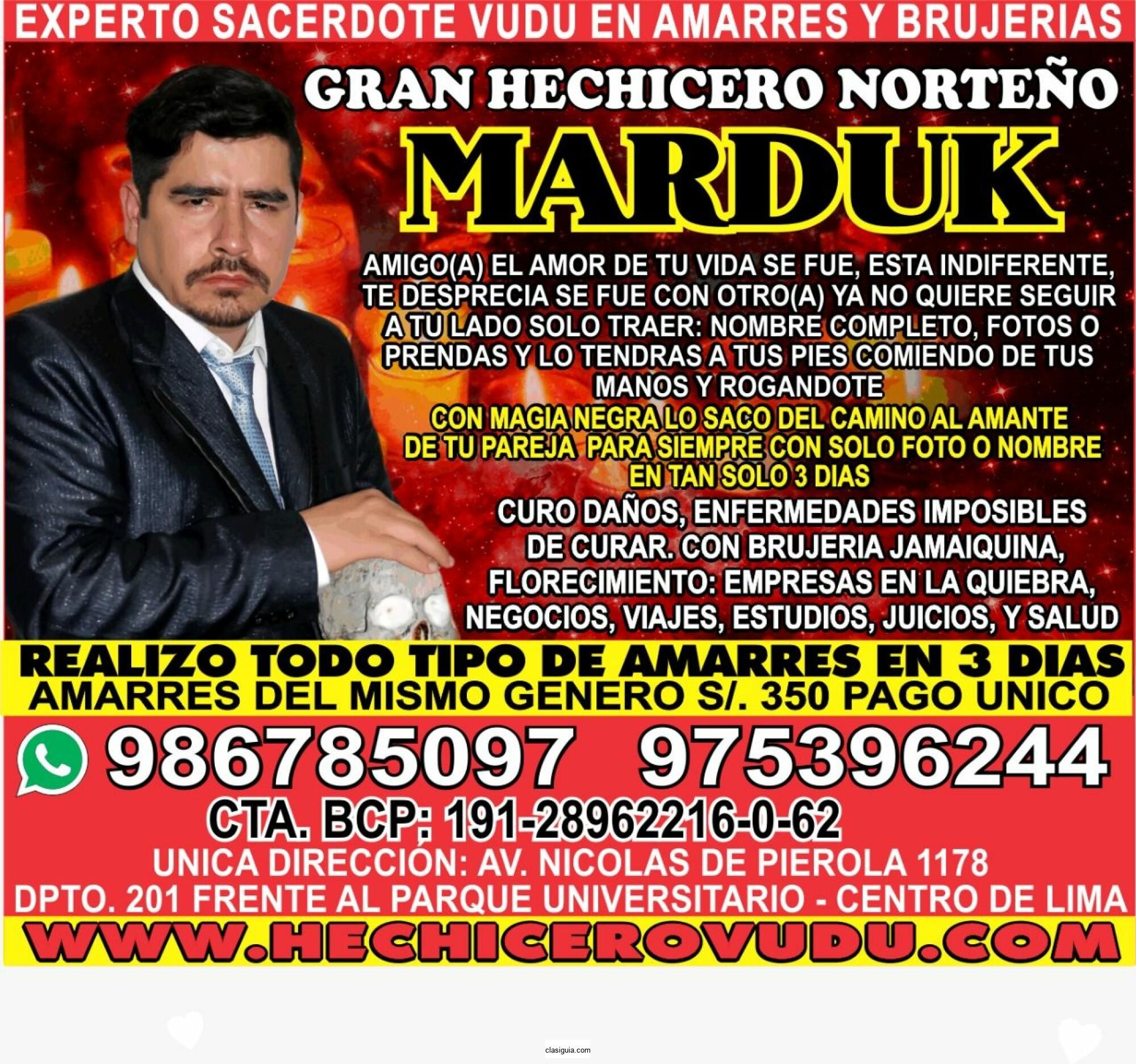 MAESTRO MARDUK EN ESPAÑA (AMARRES DE AMOR EFECTIVOS)