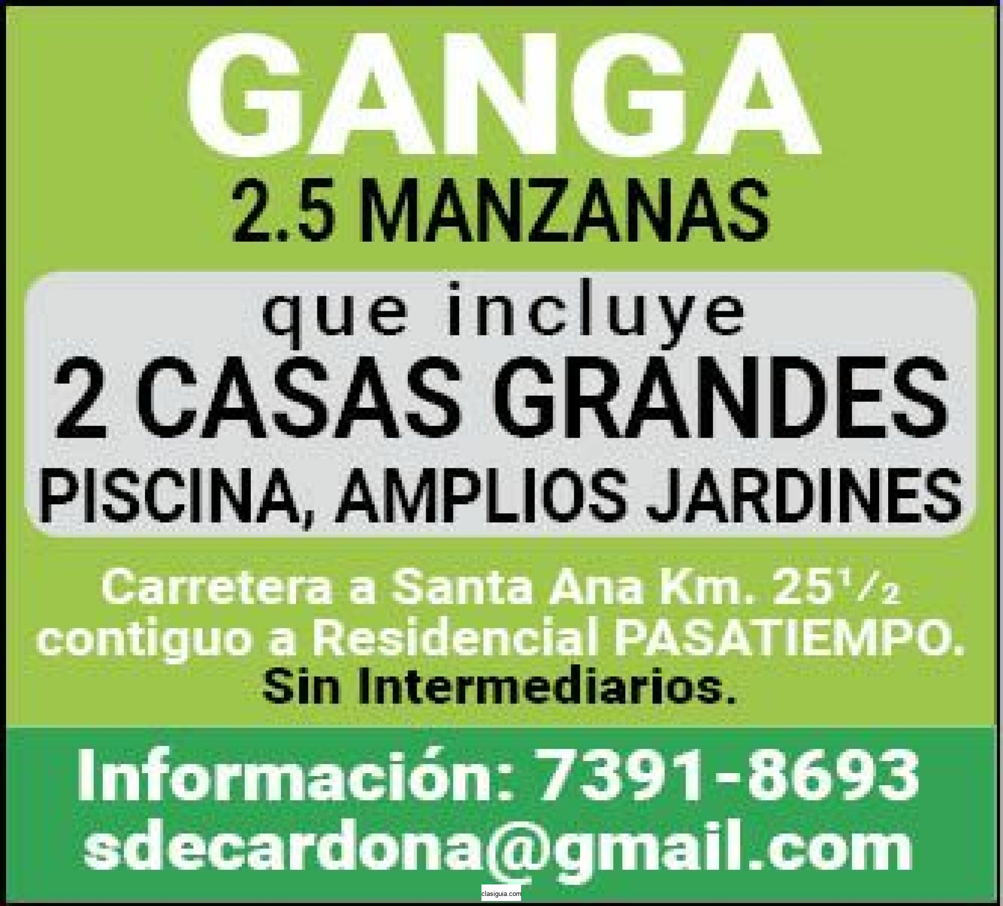 "GANGA 2.5 MANZANAS ""2 CASAS GRANDES"""