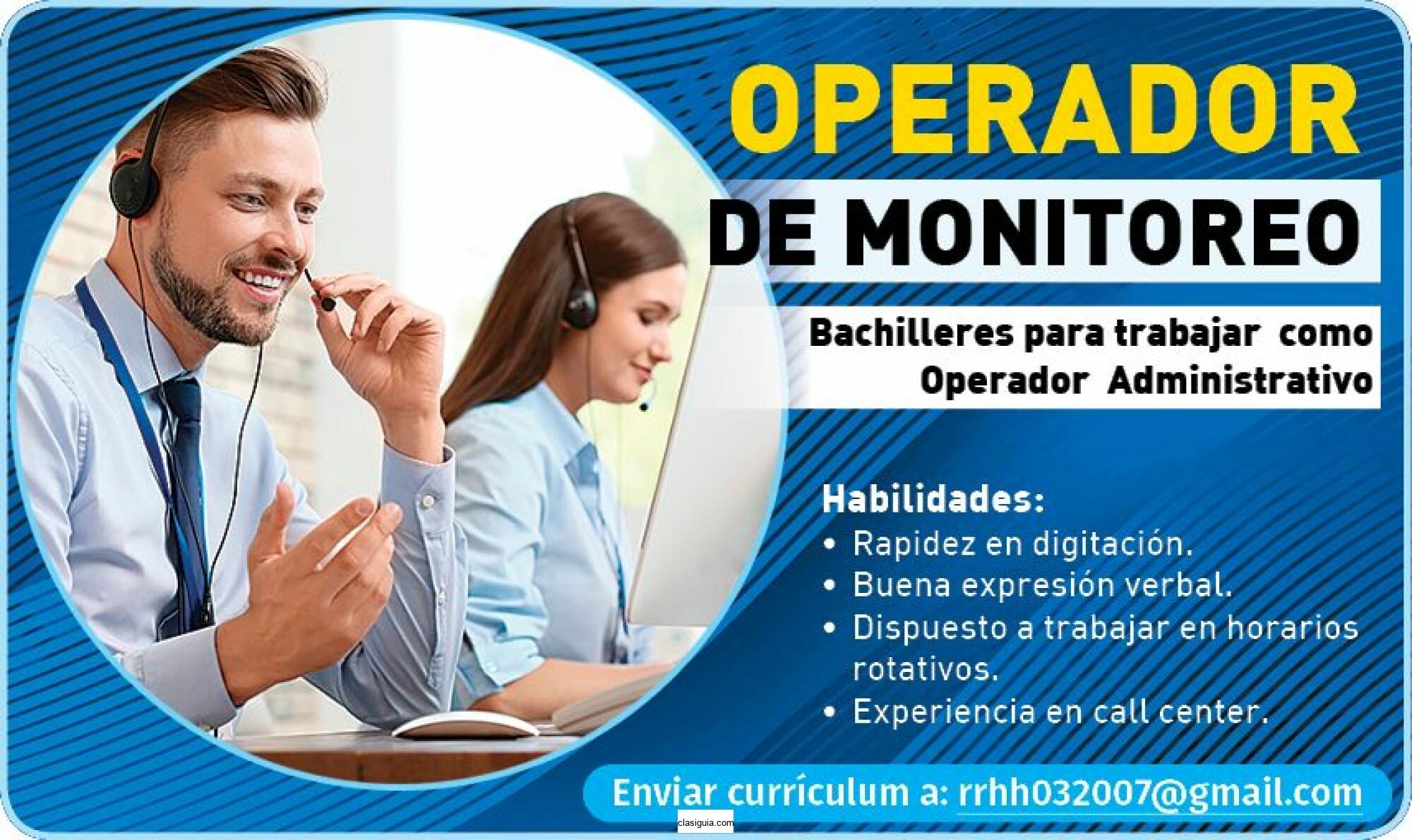 OPERADOR DE MONITOREO