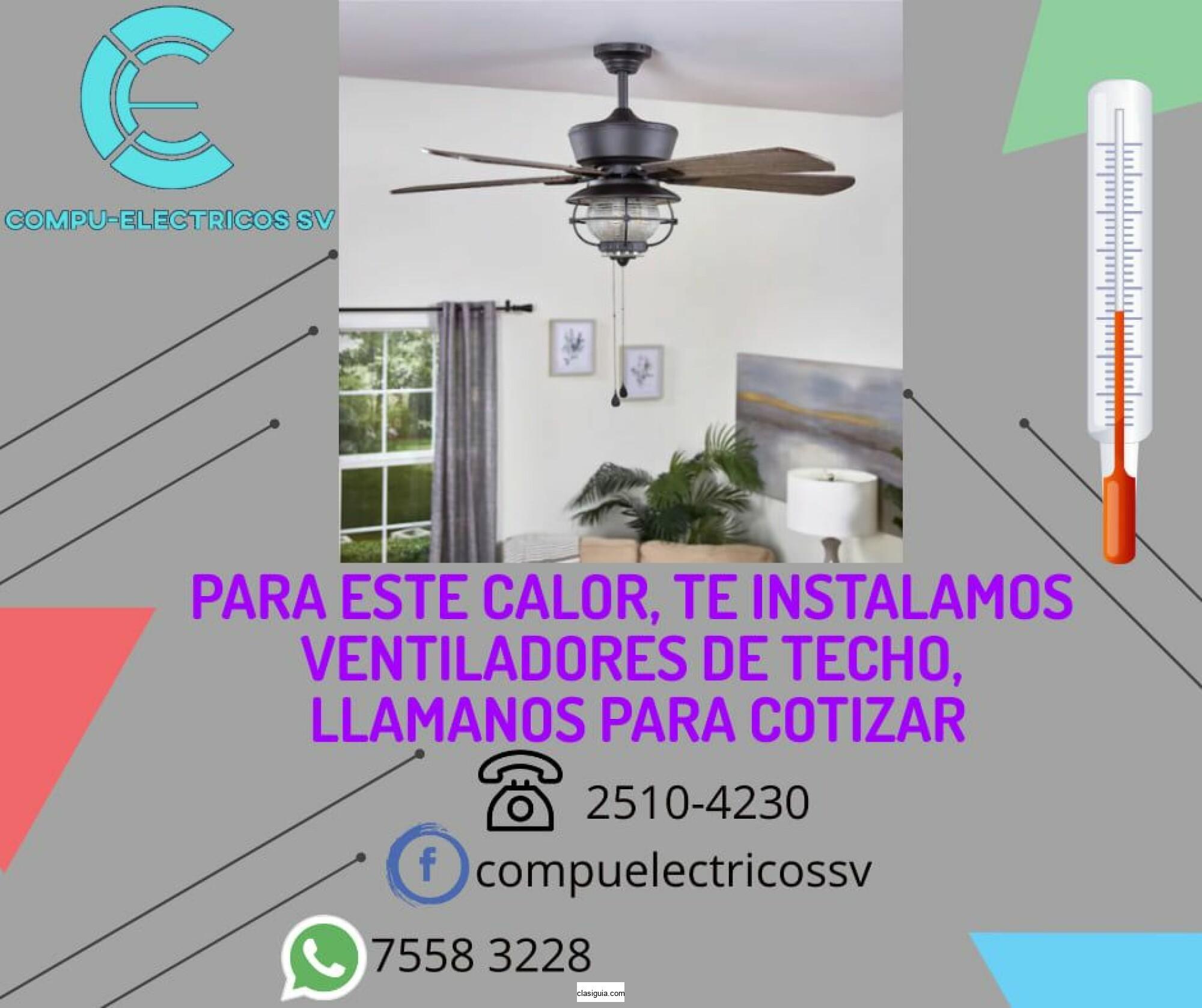 Instalación de ventiladores de techo