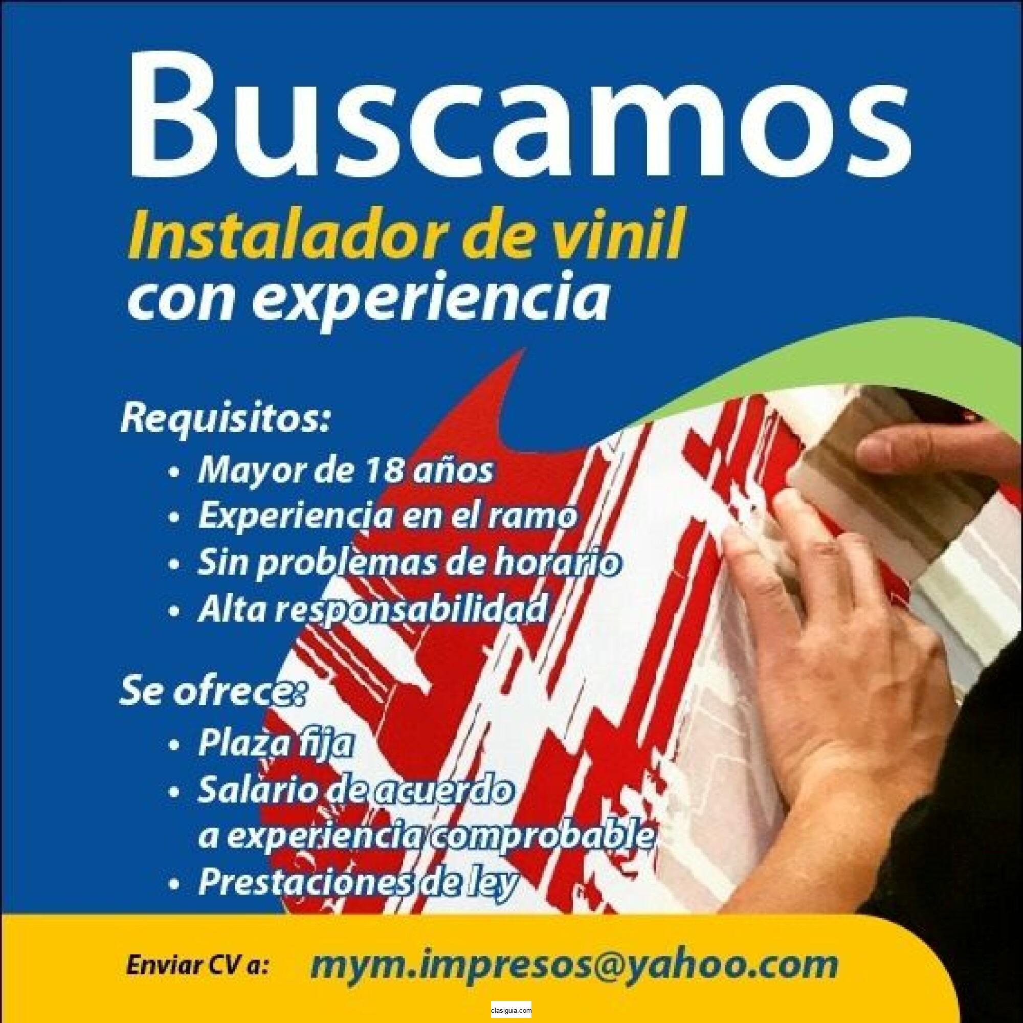 BUSCAMOS INSTALADOR DE VINIL CON EXPERIENCIA