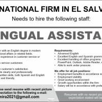 INTERNATIONAL FIRM IN EL SALVADOR