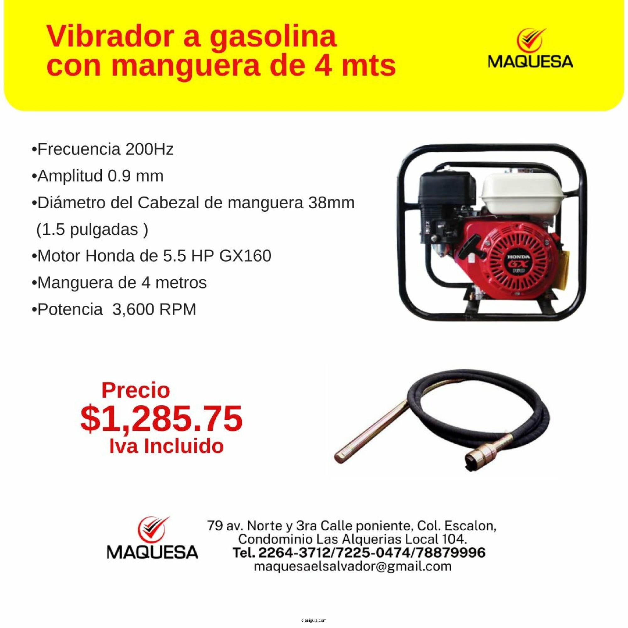 Vibrador A Gasolina