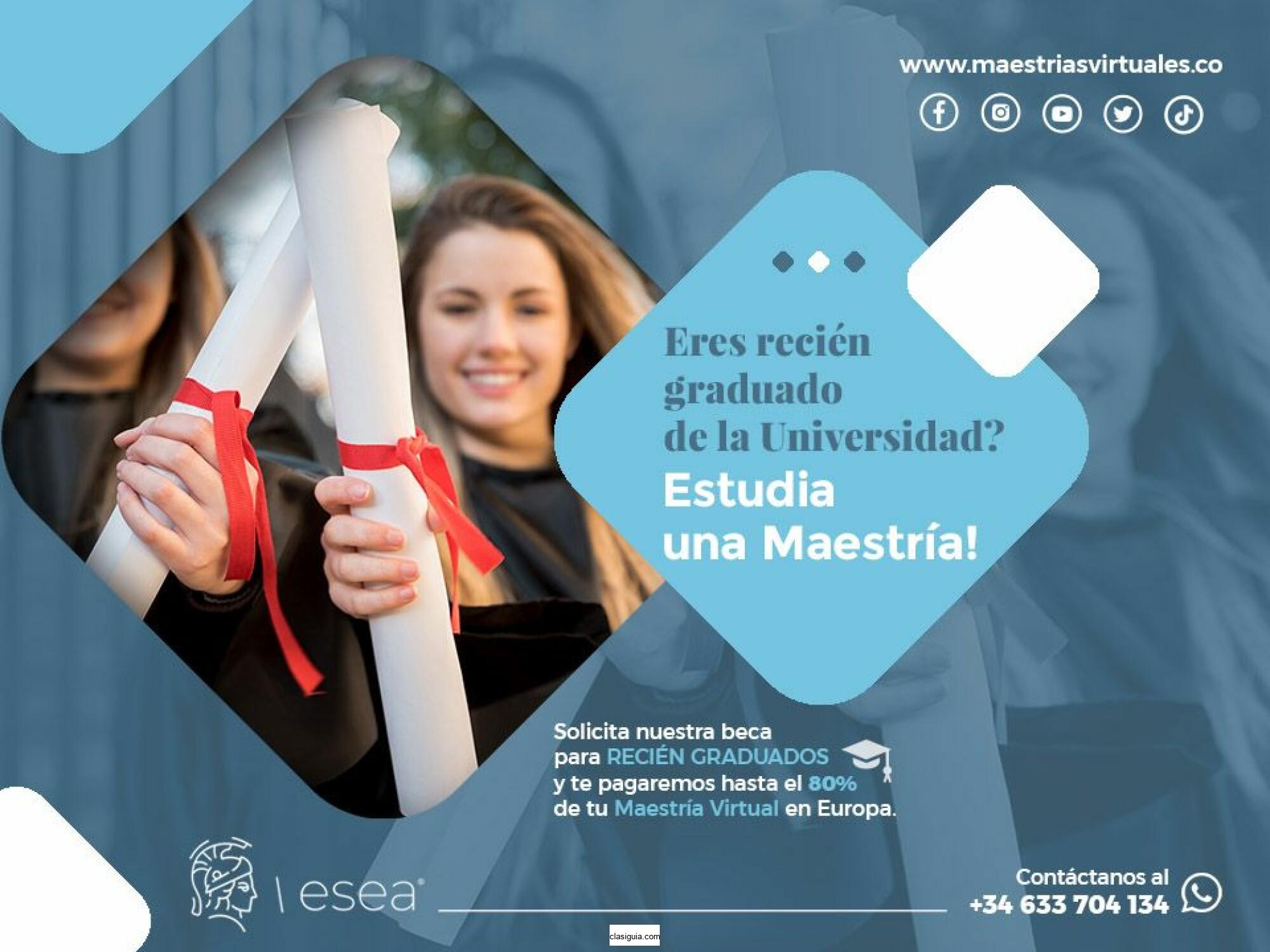 Buscamos Profesionales Recién Graduados de la Universidad