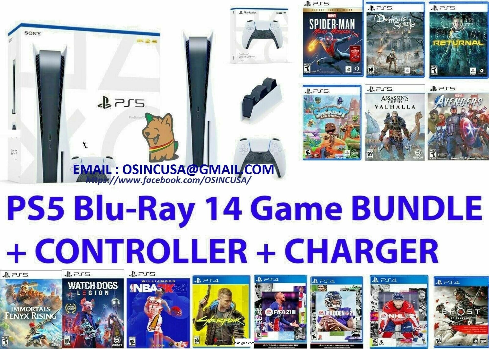 Playstation 5 Disc Version consola con 14juegos gratis