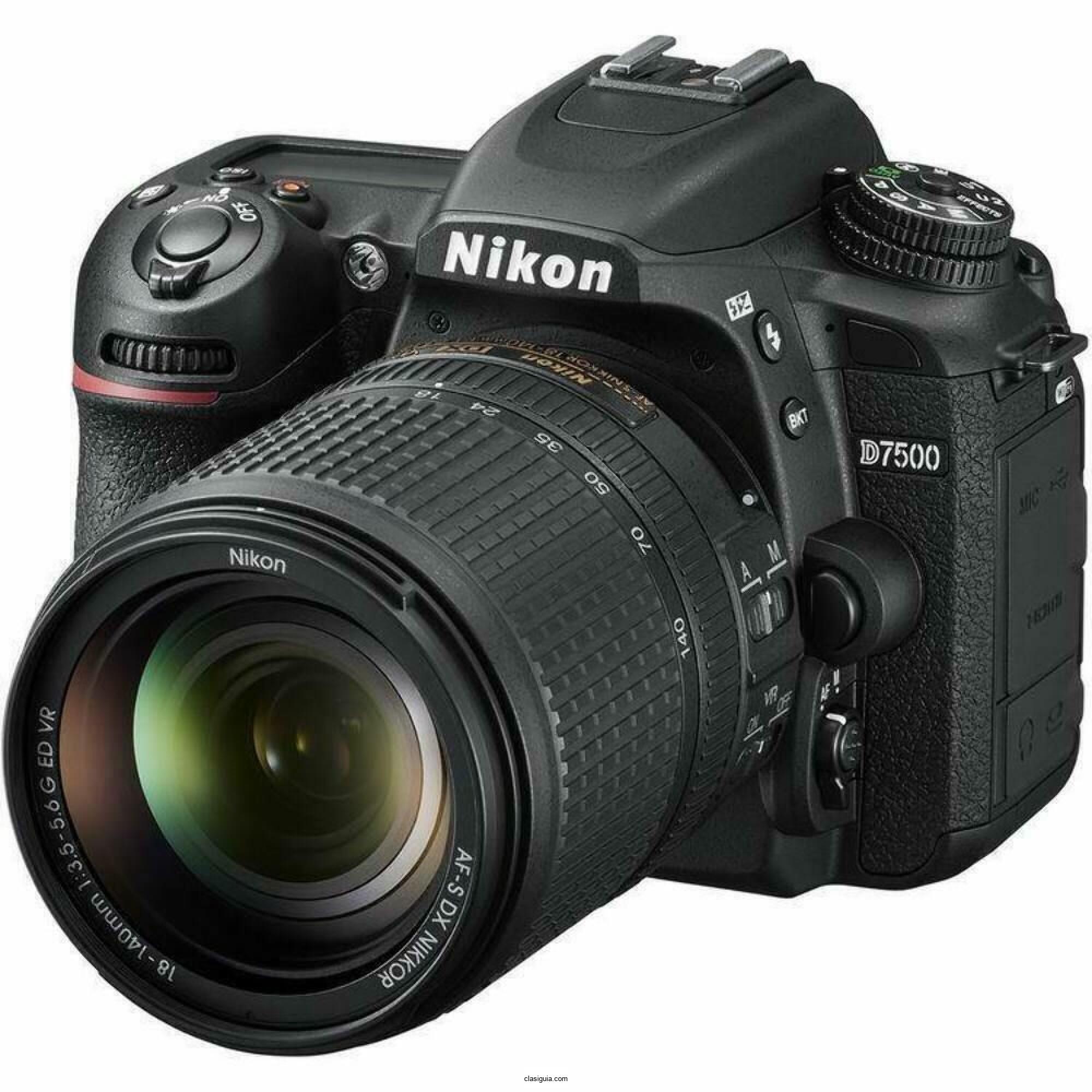Cámara SLR Nikon D7500 D con lente de 18-140mm