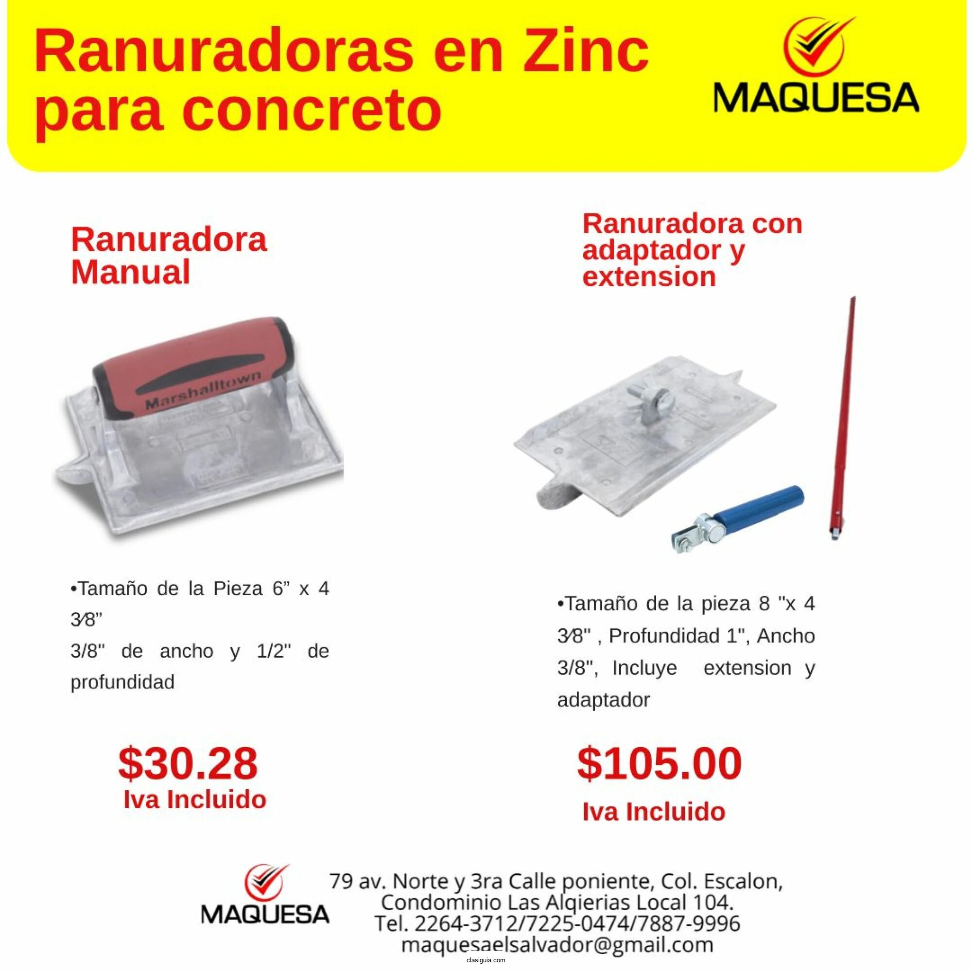Rasuradora de Zinc para concreto