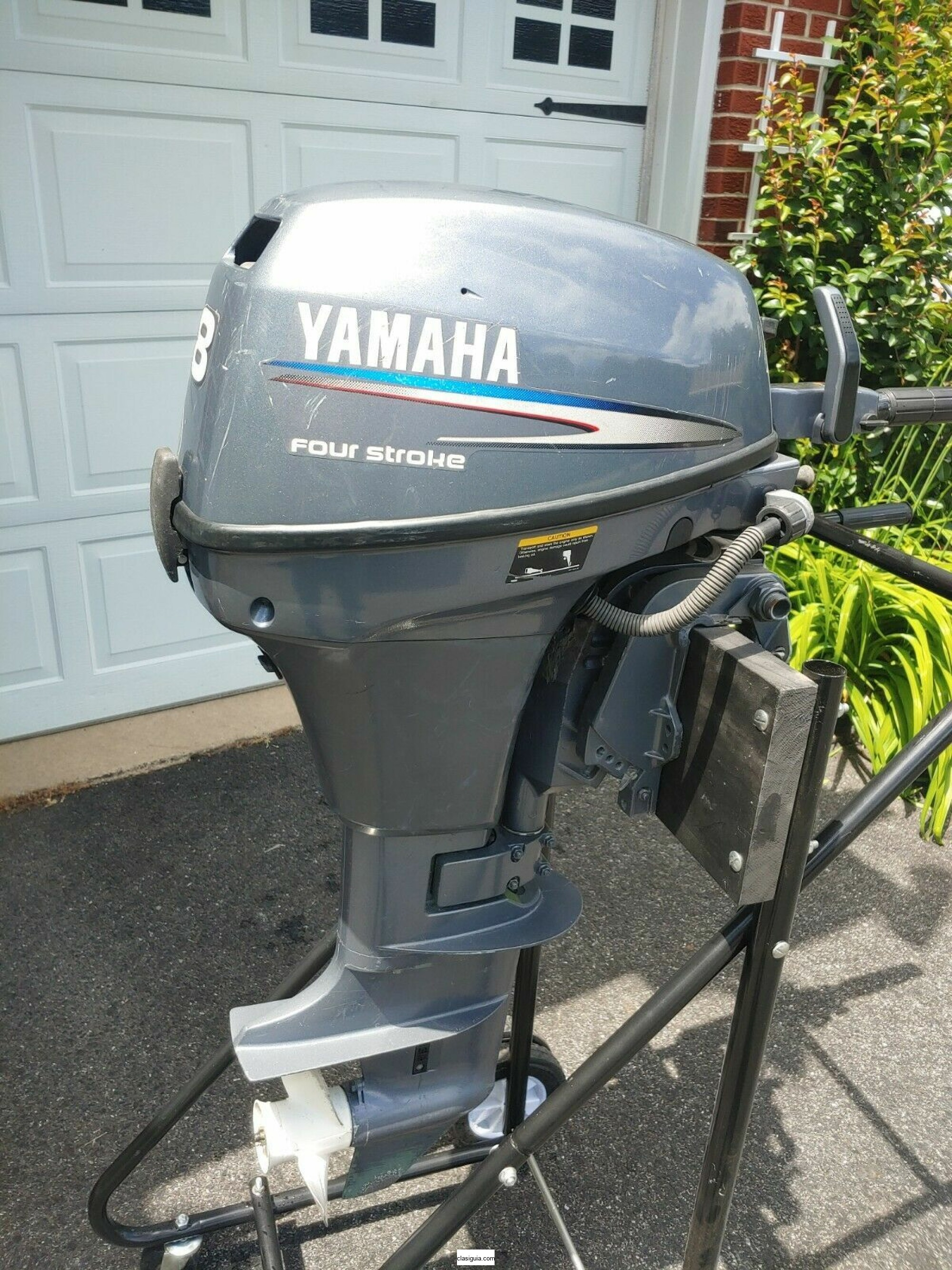 Yamaha outboard motor 8hp 4 stroke Low Hours Well maintained Excellent Condition
