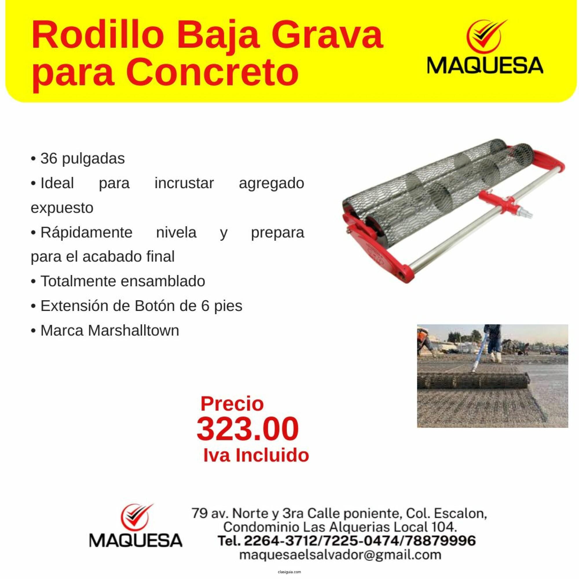 Rodillo Baja Grava