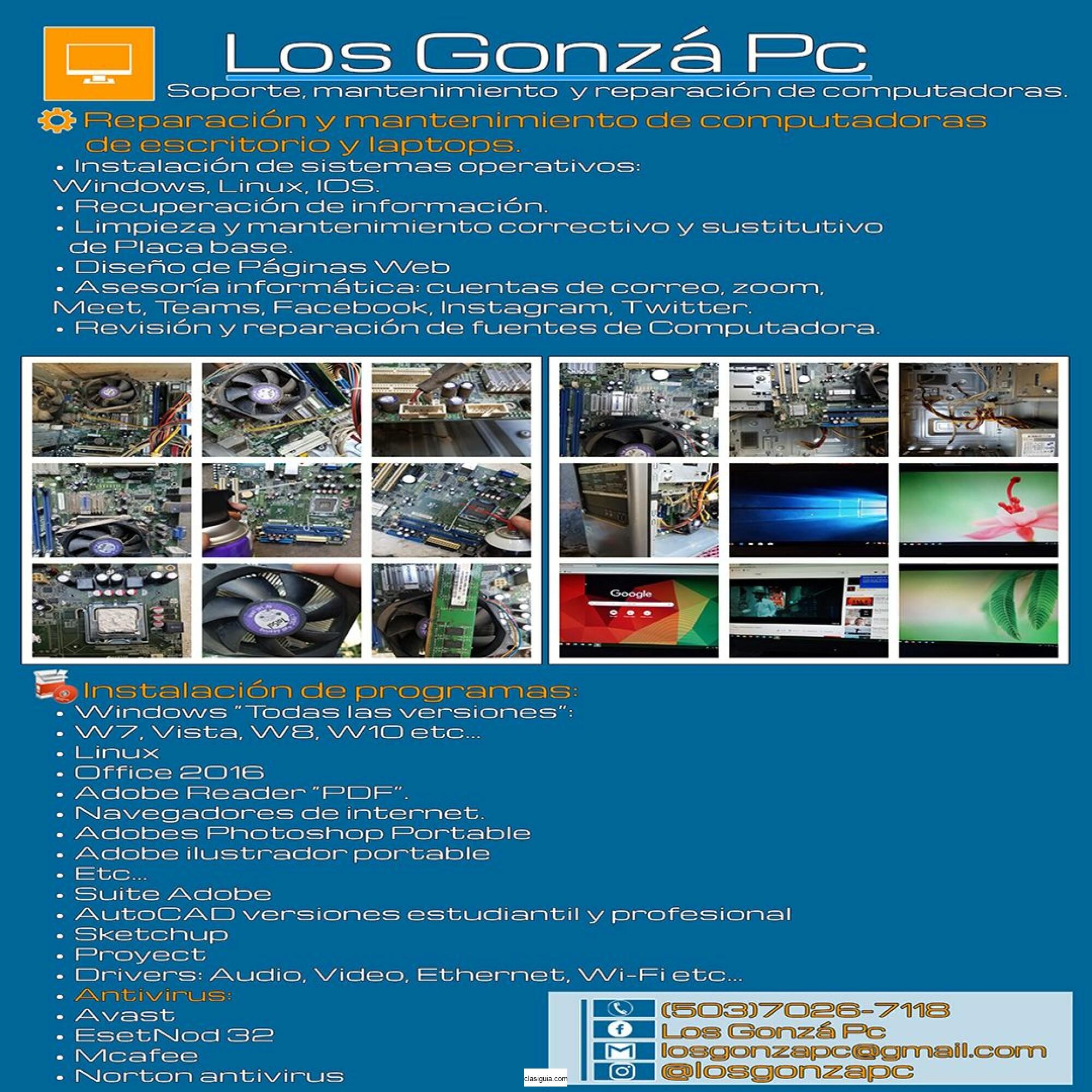 """Los Gonza Pc """"Computadoras"""""""