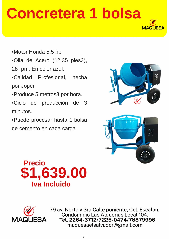 Concretera Joper 5.5 hp