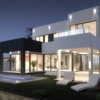 Front line Golf Modern contemporary villa for sale in La Cala de Mijas