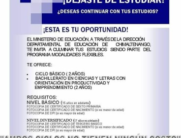 ESTUDIOS EN CHIMALTENANGO