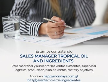 Sales manager tropical oils and ingredients