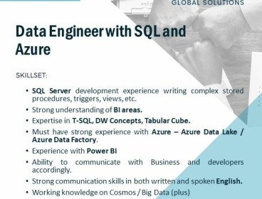 Data Engineer with SQL and Azure