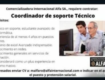 Coordinadore de Soporte Tecnico