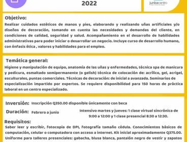 """Becas disponibles """"Uñas"""" Junkacentro ciclo 2022"""