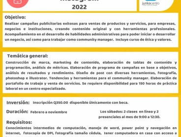 """Becas disponibles """"Ventas"""" Junkacentro ciclo 2022"""