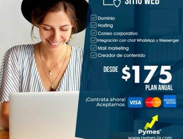 Sitio  Web, Social media y Tiendas Online