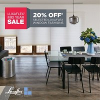 20% off LUXAFLEX Blinds, Awnings, Shades and Shutters
