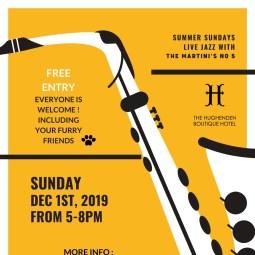 """The Hughenden Boutique Hotel Presents """" Summer Sundays Live Jazz"""""""