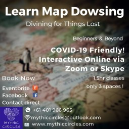 Learn Map Dowsing : COVID9 Friendly Classes (interactive online)