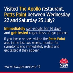 Apollo Restaurant, Potts Point