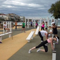 Bondi Park outdoor fitness station improvement works