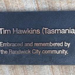 Tim Hawkins Plaque unveiled at Bali Memorial