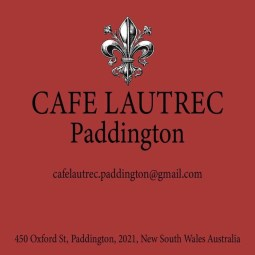 CafeLautrec 450 Oxford Street Paddington