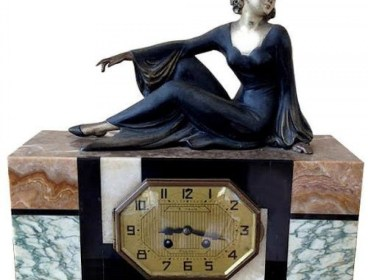 ART DECO FRENCH MARBLE CLOCK