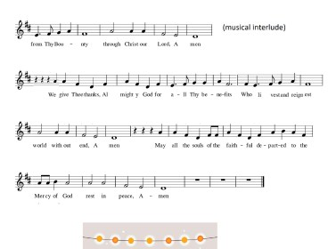 Bless Us O Lord (Songsheet)