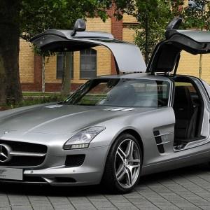 Mercedes Benz SLS AMG grey