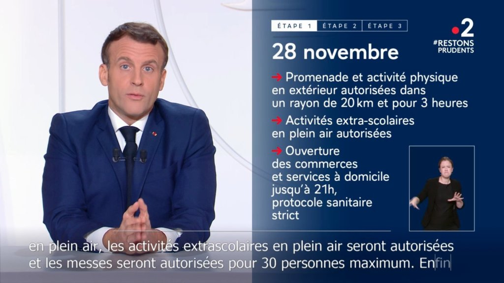 """French President Macron announced a new response to the coronavirus epidemic, which will lift the """"restriction order"""" in stages."""