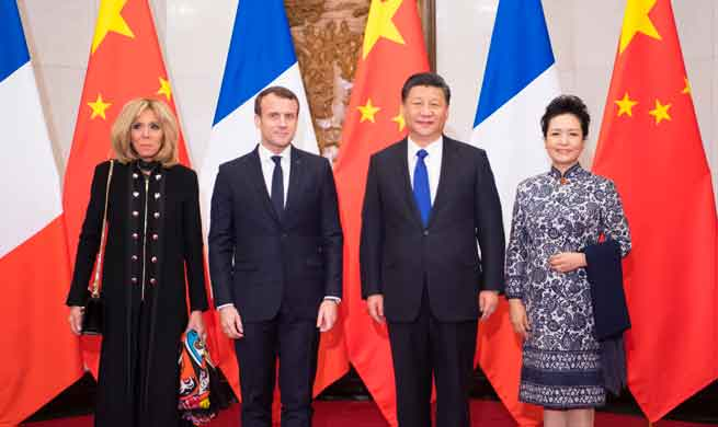 Xi Jinping talked to French President Macron on the phone