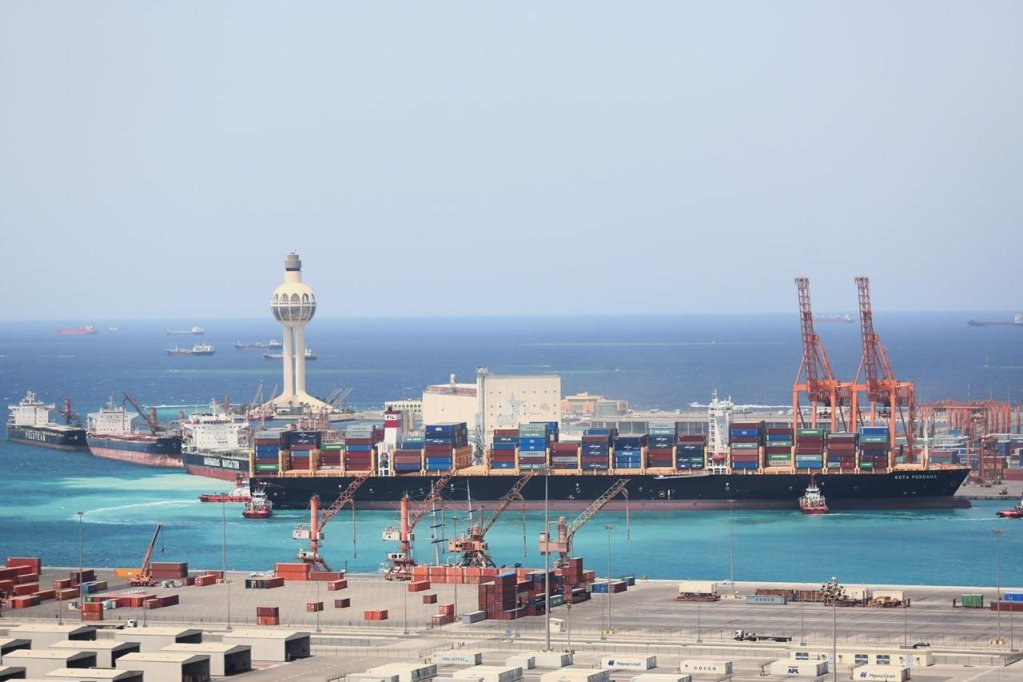 A tanker is suspected to have been attacked in a Saudi port, with fire and explosion.