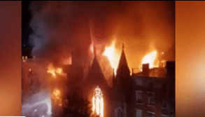 19th-century church in New York City was destroyed by fire