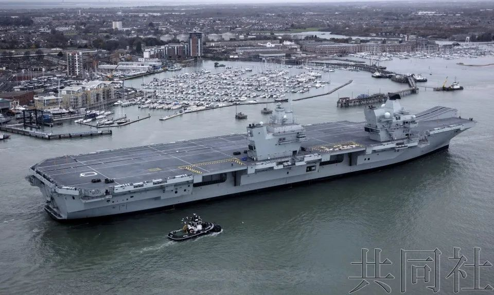 Due to the Hong Kong issue, Britain will send aircraft carriers offshore to Japan.