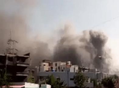 A rocket attack on Iraq's Bailaid air base
