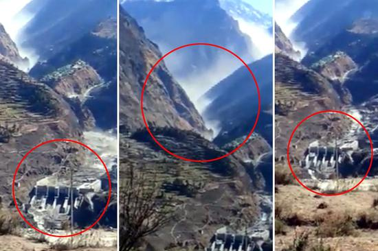 Glacier fracture in northern India and flood washed away houses Official: Hundreds may be killed or injured