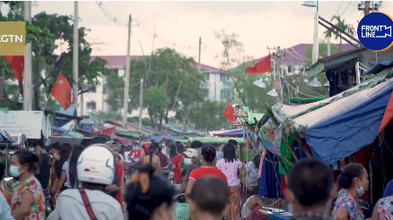 Protests broke out outside the Myanmar Embassy in Thailand