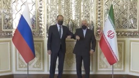 Russian Foreign Minister Lavrov visited Iran and urged the United States to lift sanctions against Iran.