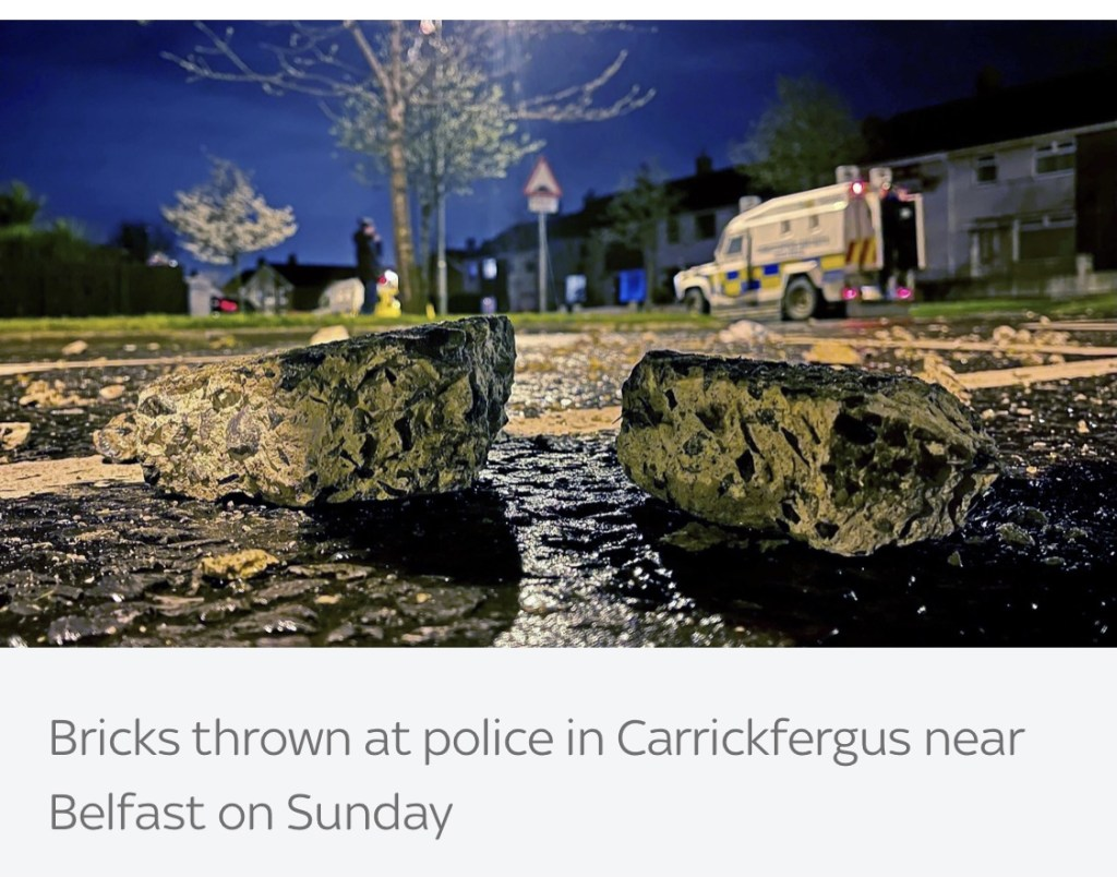 Northern Ireland police were attacked for three consecutive nights.
