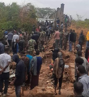 Nine people have died after a concrete wall collapsed in Ethiopia due to continuous rains