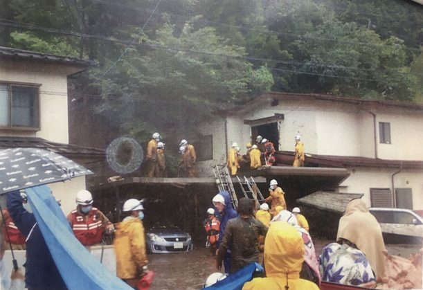 At least eight people have been buried in a mudslide in Nagano Prefecture, Japan