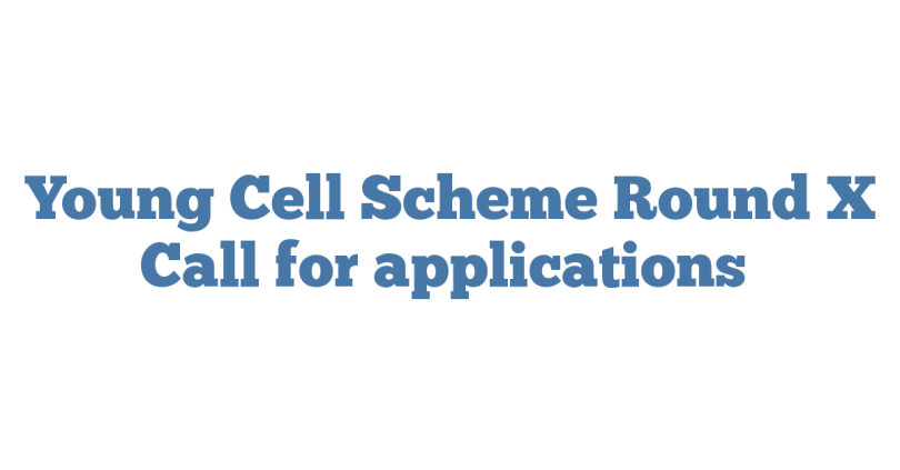 Young Cell Scheme Round X Call for applications