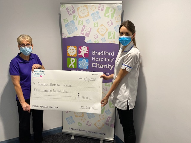 Bradford Royal Infirmary supported by Yorkshire Children's Trust at Christmas 2020
